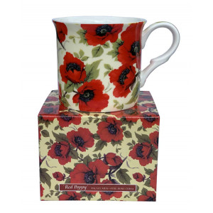 Red Poppy Design Fine Bone China Palace Tea Coffee Cup Mug