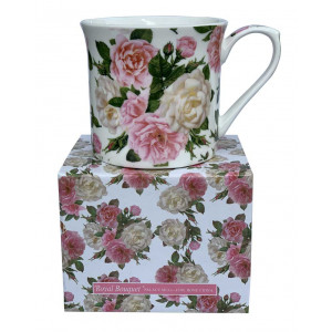 Royal Bouquet Fine Bone China Palace Tea Coffee Cup Mug
