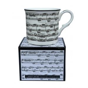 Sheet Music Fine Bone China Palace Tea Coffee Cup Mug