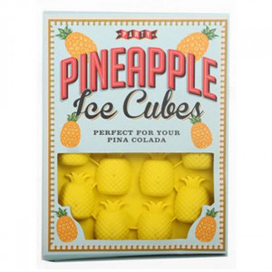 Party Pineapple Ice Cube Moulds With Pina Colada Recipe