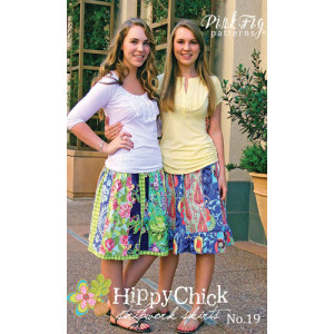 Hippy Chick Stripwork Skirt Pink Fig Sewing Pattern