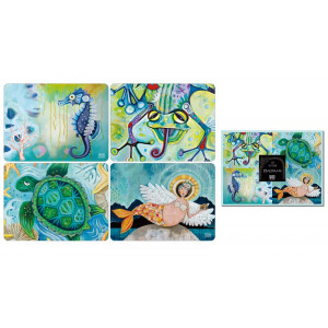 Placemats Cork Backed Water Dwellers Set of 4