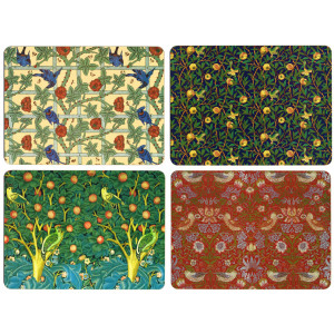 Set of 4 Dining Table Placemats Only William Morris Birds