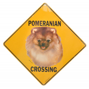 Pomeranian Crossing Road Sign