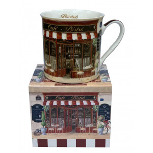 French Cafe Bistro Porcelain Tea Coffee Cup Mug