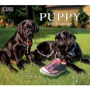 Puppy 2021 Lang Wall Calendar by Jim Lamb