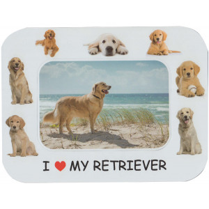 Retriever Dog Magnetic Photo Frame