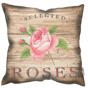 Selected Roses Art Print Retro Cushion Martin Wiscombe