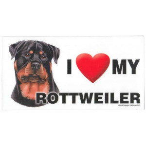 I Love My Rottweiler Dog Fridge Office Fun Magnet