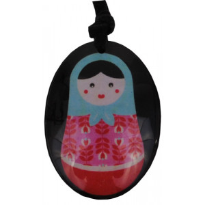 Babushka Matryoshka Russian Doll Resin Pendant