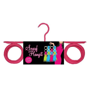 Scarf and Accessories Organiser and Hanger Pink