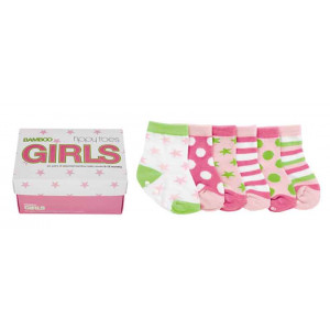 Baby Girls Bamboo Fibre Socks 0-12 Months