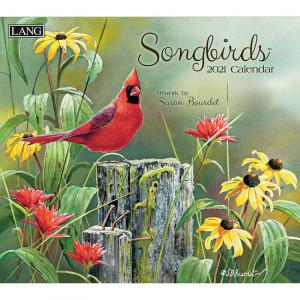 Songbirds Susan Bourdet 2021 Lang Wall Calendar
