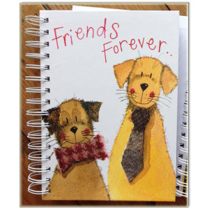 Friends Forever Dogs Hard Cover Spiral Notebook Journal By Alex Clark