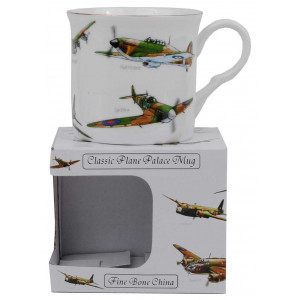 WW II English Aircraft Fine Bone China Palace Mug