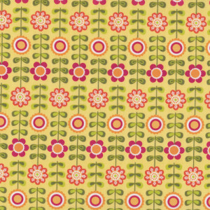 Flowers on Yellow Summer Song Riley Blake Quilt Fabric