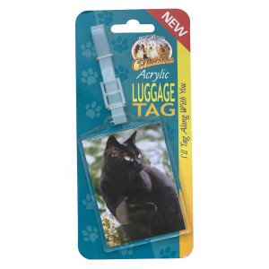 Black Cat Acrylic Suitcase Travel Luggage Tag