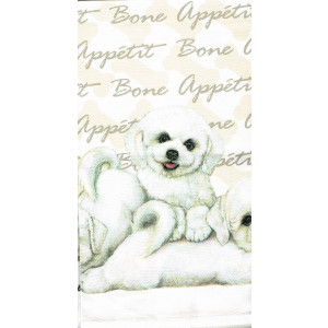 Bichon Frise Puppies 100% Cotton Kitchen Tea Towel
