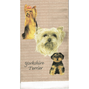 Yorkshire Terrier Dogs 100% Cotton Kitchen Tea Towel