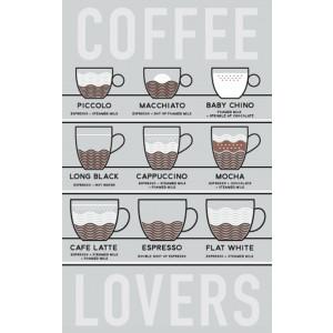 Coffee Lovers 100% Cotton Kitchen Tea Towel