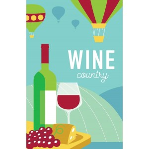Wine Country 100% Cotton Kitchen Tea Towel