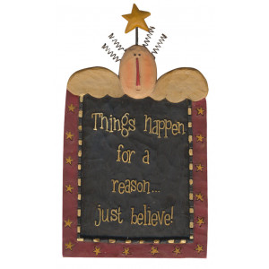Things Happen For a Reason Just Believe Resin Ornament