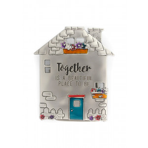 Together Is a Beautiful Place To Be Pewter Fridge Magnet