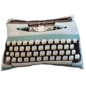 Retro Typewriter Design Throw Pillow Cushion