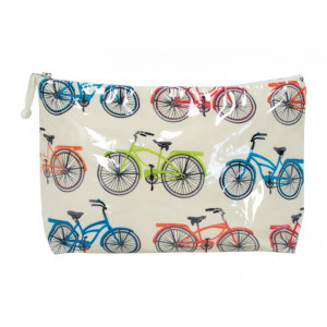 Cosmetic Beauty Makeup Storage Toiletry Travel Bag Vintage Bikes Large
