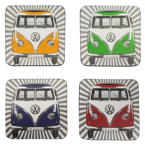 VW Volkswagen Kombi Set of 4 Cork Backed Drink Coasters