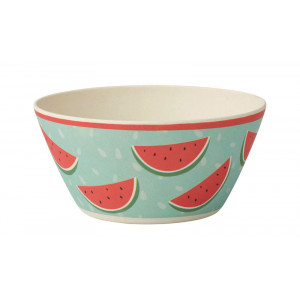 Tropicana Watermelon Design Bamboo Fibre Bowl