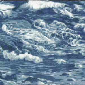 Waves Ocean Sea Water Quilt Fabric