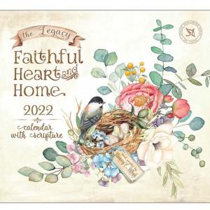 Faithful Heart & Home Nancy E Mink 2022 Legacy Wall Calendar With Scripture