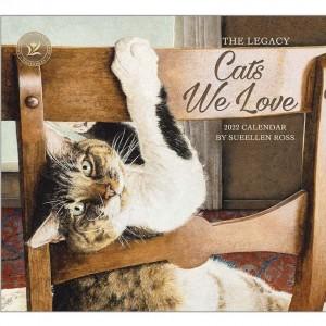Cats We Love by Sueellen Ross 2022 Legacy Wall Calendar