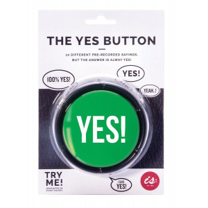 The YES Button 10 Pre Recorded  Novelty Fun Sayings