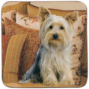 Yorkshire Terrier Dog Cork Backed Drink Coaster