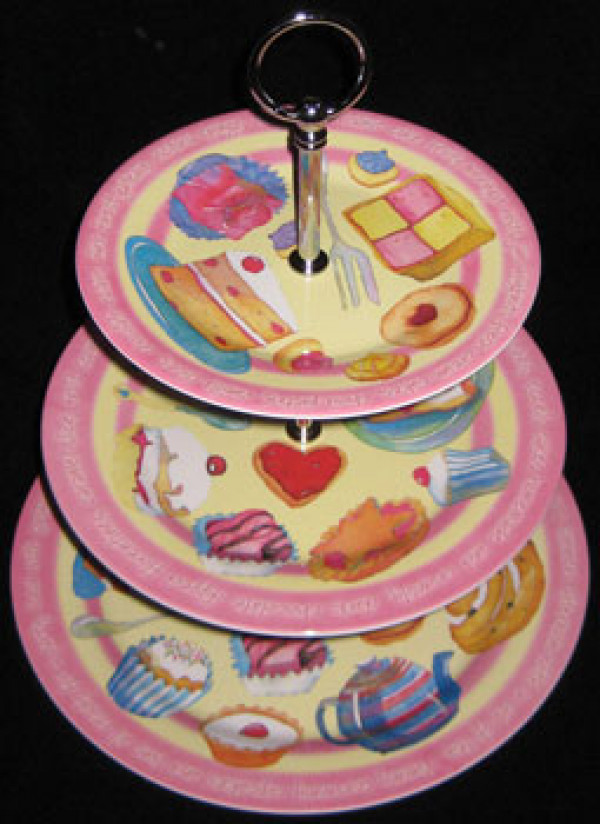 Tea Time Cake Cupcakes Melamine Stand