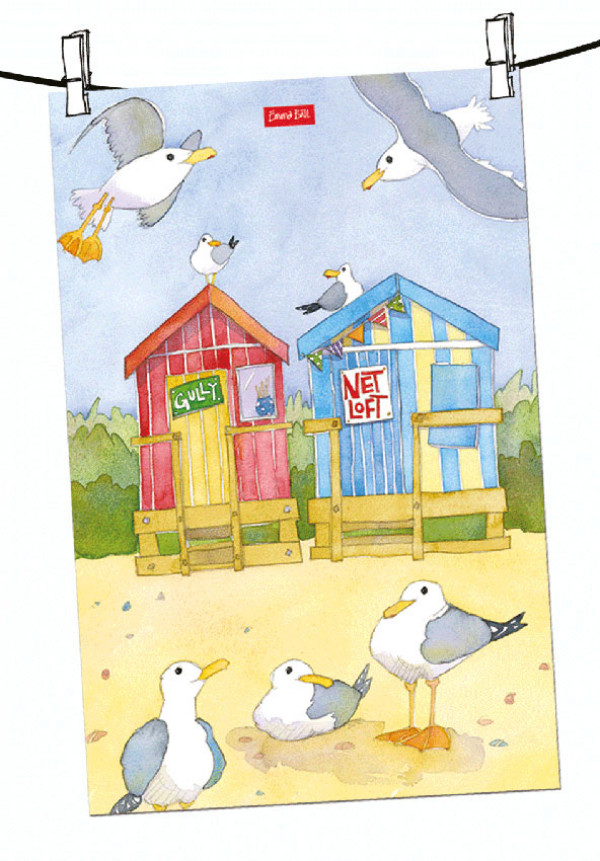 beach-huts-tea-towel