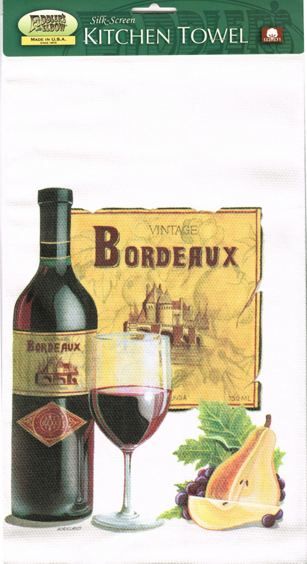 Vintage Bordeaux Tea Towel